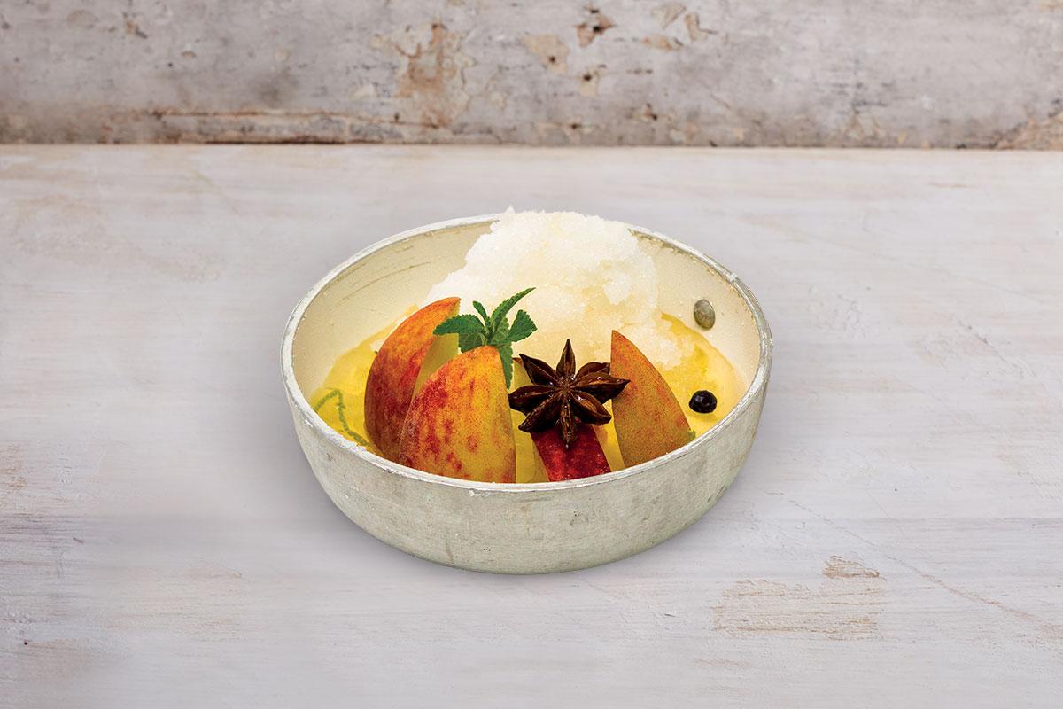 ricette bagnadolci maraschino zuppa di pesche granita mandorle